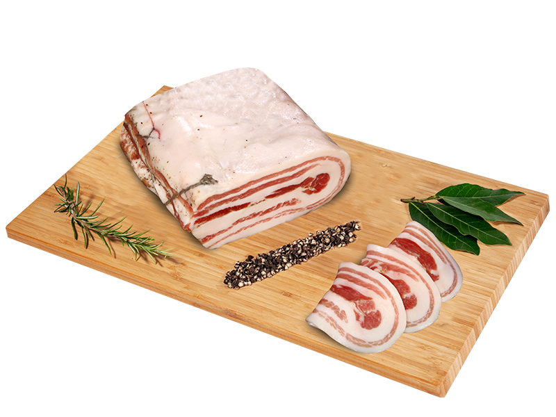 Pancetta bacon gelin